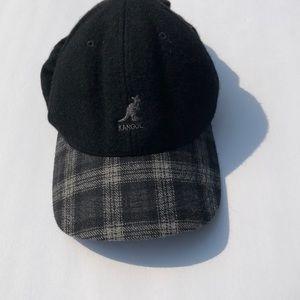 Black and gray plaid Kangol hat size small medium